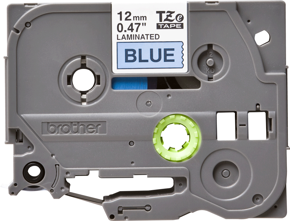 Genuine Brother TZe-531 Labelling Tape Cassette – Black on Blue, 12mm wide 2